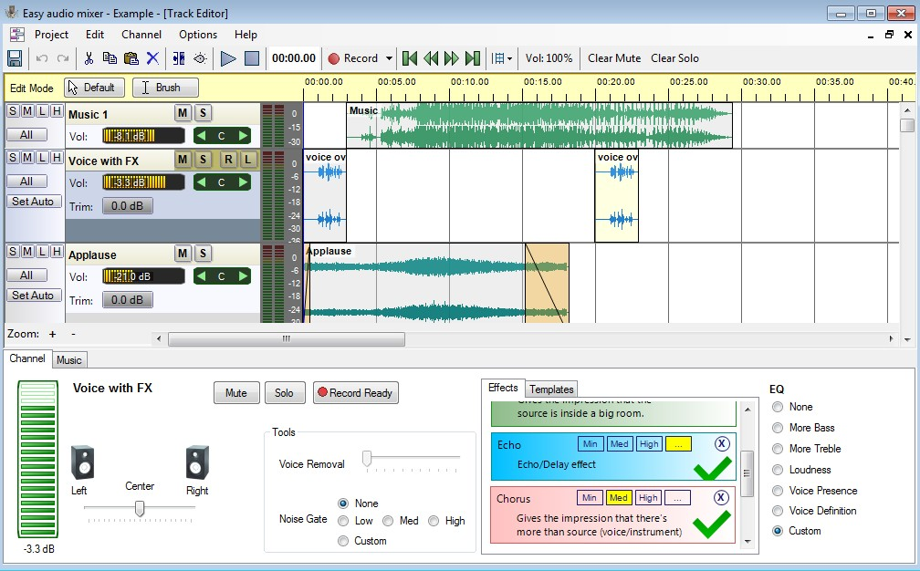 Click to view Easy audio mixer 1.0.2 screenshot