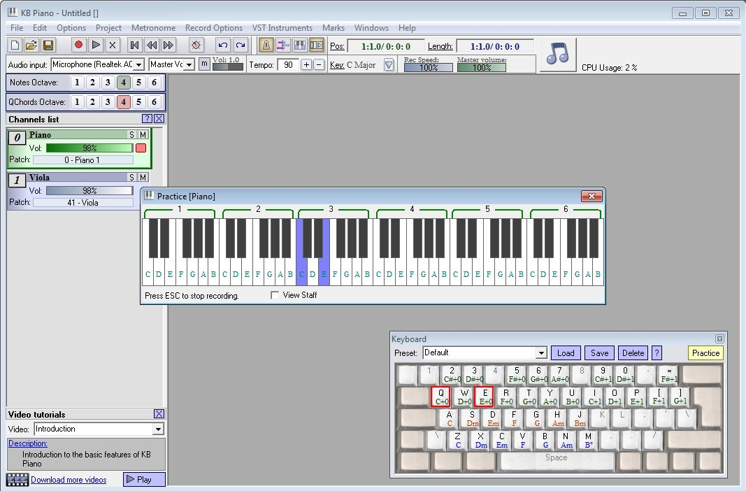 Click to view KB Piano 2.5.2 screenshot
