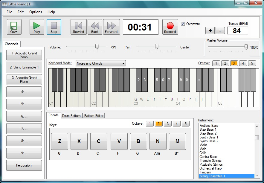 Click to view Little Piano 1.0.2 screenshot